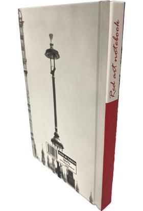 SVN A6 Sert Kapak Red Blok Not Kareli Defter Saat Kulesi 10X15 cm