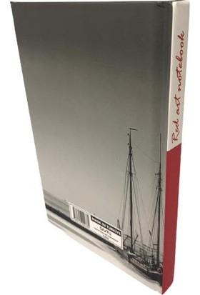 SVN A6 Sert Kapak Red Blok Not Kareli Defter Yelkenli Tekne 10X15 cm