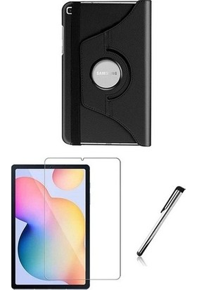 """Eskilik Shop Samsung Galaxy Tab A7 SM-T500 2020 10.4"""" Set Kılıf + Kalem + Ekran Koruyucu 360 Derece Dönebilen Standlı Tablet Kılıfı"""
