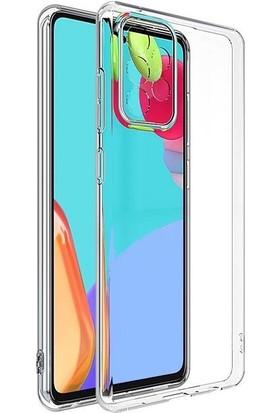 Smcase Samsung Galaxy A52 Kılıf Kamera Korumalı Şeffaf Silikon Renksiz