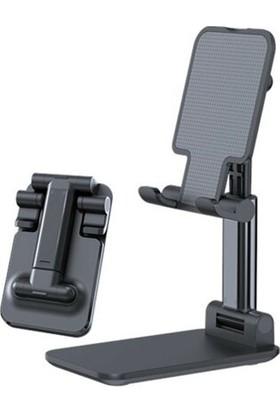 Okmore Masaüstü Katlanabilir Tablet ve Telefon Tutucu Stand Siyah