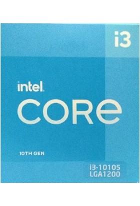 INTEL i3 10105 3.70GHz 6MB Önbellek 4 Çekirdek 10.nesil Işlemci