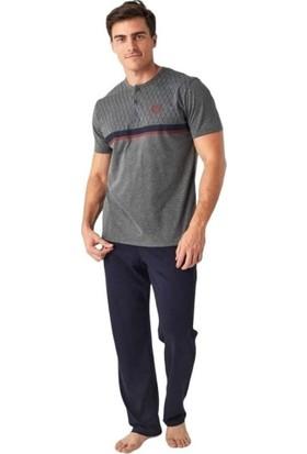 Mod Collection 3 Parça Şortlu Kısa Kol Erkek Pijama Takım