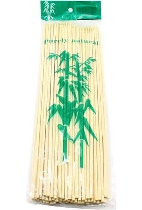 Süsle Bebek Parti Bambu Çöp Şiş, Kurabiye Çubuğu, 25 Cm, 90 Adet