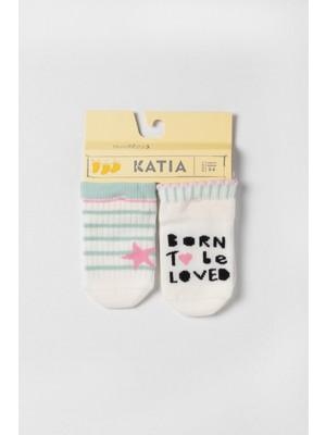 Katia&Bony Ocean Odyssey Love 2 Pck. Çocuk Çorap - Ekru