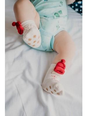 Katia&Bony New Joys Kız Bebek Çorap - Ekru