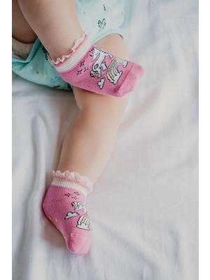Katia&Bony Shiny Unicorn Bebek Çorabı - Pembe