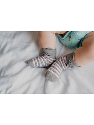 Katia&Bony 2'li Paket Sweet Kedi Desenli Bebek Çorabı - Pembe
