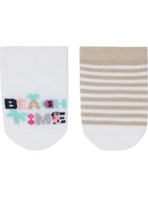 Katia&Bony Beach Time 2 Li Bebek Patik Çorap - Desenli