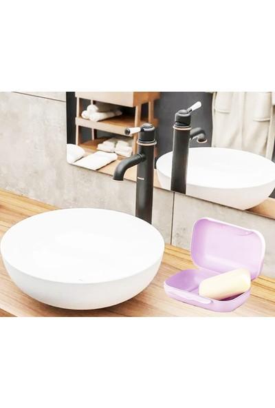 Pratik Kilitli Kapaklı Sabunluk Sabun Kabı