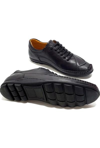 Çetintaş Deri Erkek Ayakkabı - Siyah - 41