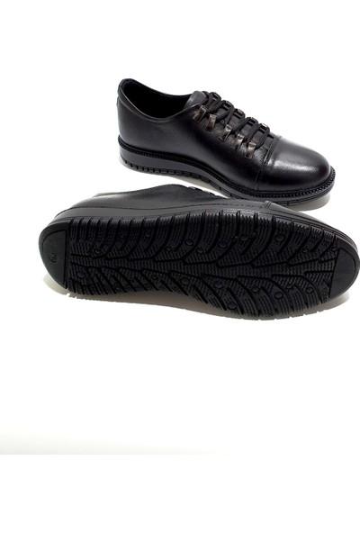 Slope Deri Erkek Ayakkabı - Siyah - 40