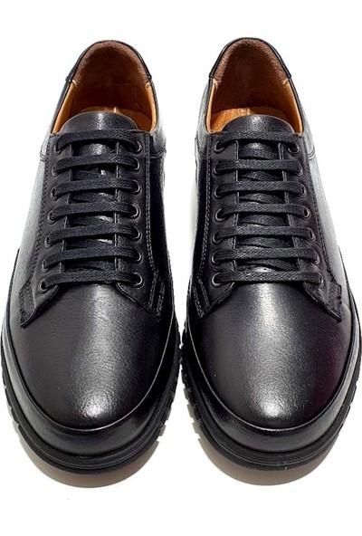 Slope Deri Erkek Ayakkabı - Siyah - 43