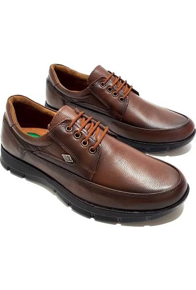 Slope Deri Erkek Ayakkabı - Kahverengi - 40
