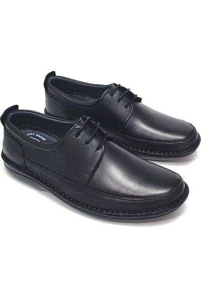 Alme Erkek Deri Ayakkabı - Siyah - 40