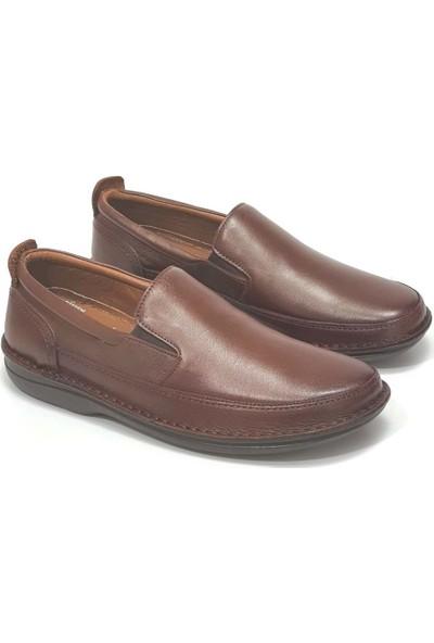 Alme Erkek Deri Ayakkabı - Taba - 41