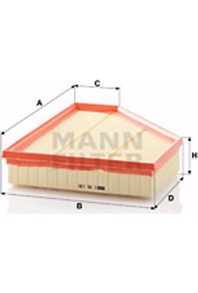 Mann Bmw 3 Coupe 330 D 2006-2013 Mann-Filter Hava Filtresi