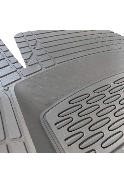 Safir Fiat Punto2013 Model 3D Havuzlu Paspas Full Gri