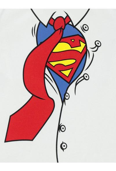 Superman Erkek Çocuk Sweatshirt 2-5 Yaş Beyaz