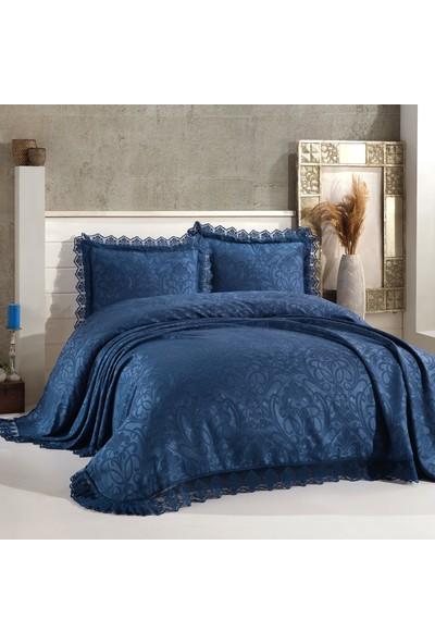Bir Home Birhome Violet Dantel Yatak Örtüsü