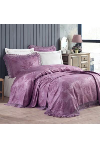 Bir Home Birhome Pera Dantelli 6 Parça Çarşaflı Set Çift Kişilik Pike ve Yatak Örtüsü