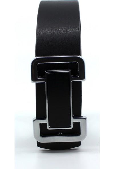 Çanta Sepetim Unisex Siyah Gümüş Tokalı Kemer