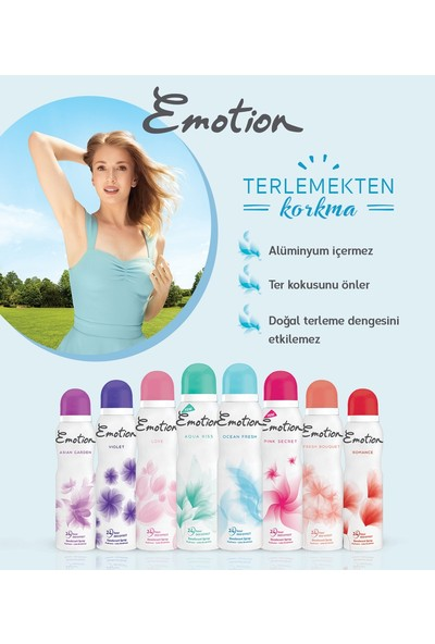Emotion Love Kadın Deo 150 ml + Duru Orkide Duş Jeli 450ML/SET 5 Parça