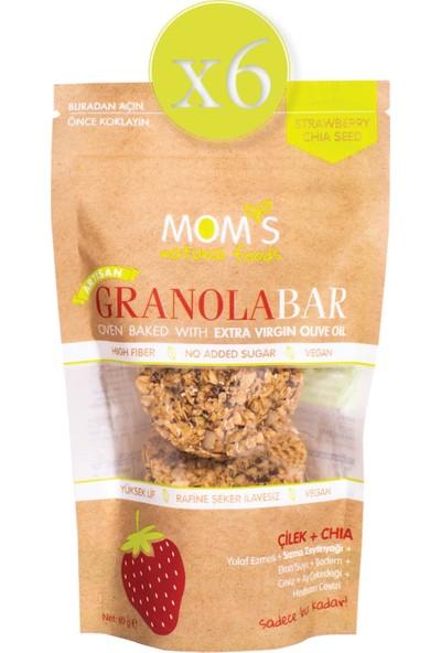Mom's Natural Foods Mom's 6'lı Çilek Chia Granola Bar (6 x 60 Gr)