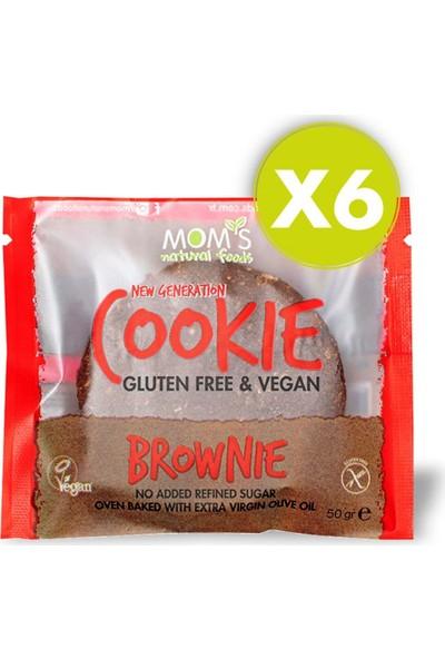 Mom's Natural Foods Mom's 6'lı Glutensiz Vegan Brownie Cookie (6 Ad)