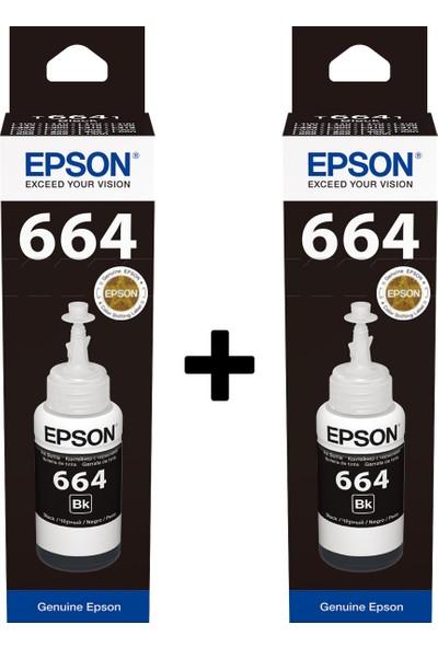Epson 664 Serisi 2li Siyah Mürekkep Seti