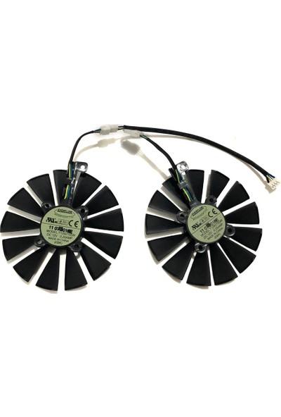 Everflow Asus Gpu Rog Poseıdon GTX1080TI Strıx Rx 570 470 580 Gtx 1050TI Ekran Kartı Soğutma Fanı