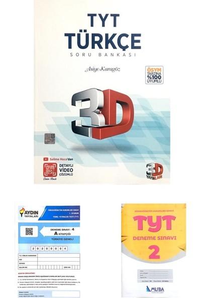 3D Yayınları TYT Türkçe Soru Bankası Yeni (Muba+Aydın Denemeli)