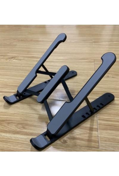 Pembe Karınca Yükseklik Ayarlı Laptop Standı Plastik Siyah