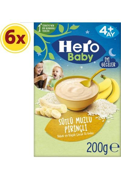 Hero Baby Gece Sütlü Muzlu Pirinçli 200 G x 6 Adet
