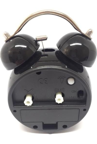 Jetfast Nostaljik Fosforlu Işıklı Alarmlı Metal Dekoratif Çalar Saat