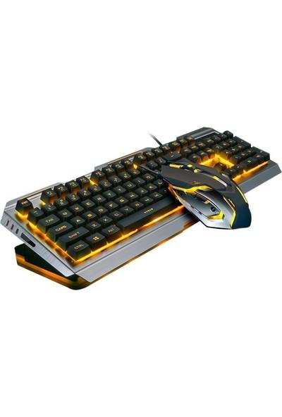 Owwotech Işıklı Oyuncu Klavye Mouse Seti Ow 8016
