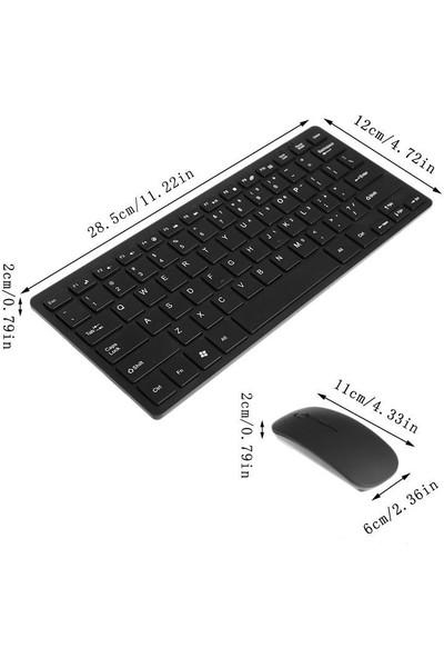 Owwotech Kablosuz Mini Klavye Mouse Set, 2.4 GHz Tek USB ile Çalışır Ow- 8040