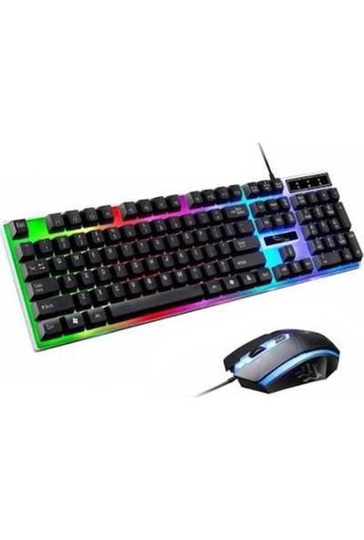 Owwotech Işıklı Oyuncu Klavye ve Mouse Seti Gaming Set Ow 8017