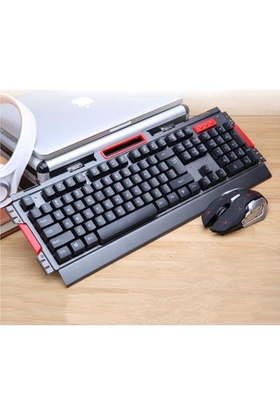 Owwotech Kablosuz Oyuncu Klavye Mouse Seti Mekanik Hisli Klavye Mouse Seti Ow 8013
