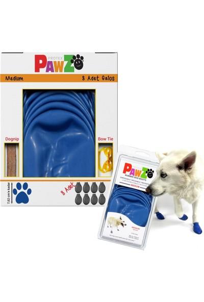 Pawz Su Geçirmez Mavi Köpek Galoşu, Köpek Ayakkabısı M-7,62 Cm-8 Adet