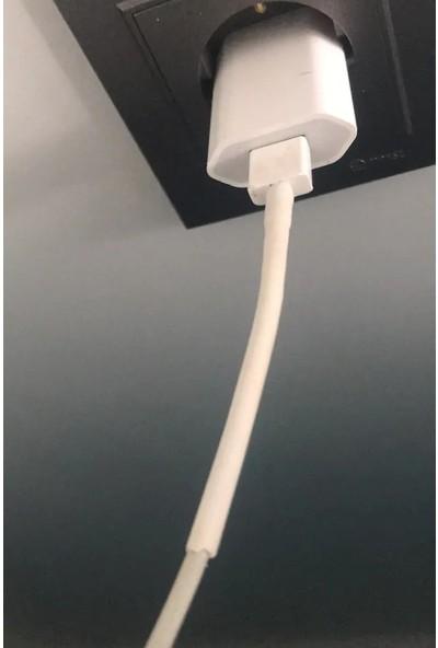 Woer Daralan Makaron Iphone Şarj Kablo Ucu Koruyucu 6.4 mm 5 Adet 5 cm Beyaz