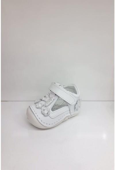Hayat HYT001 Ilk Adım Deri Kız Bebek Ortopedi Yazlık Sandalet
