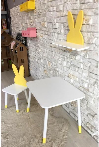 Go Baby Go BabySarı Tavşan Model Masa Sandalye