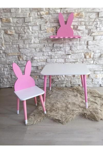 Go Baby Go BabyPembe Tavşan Model Masa Sandalye