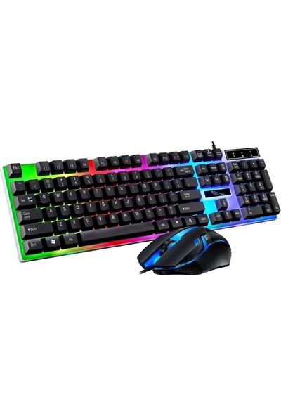 Ally G21B USB LED Işıklı Oyuncu Klavye ve Mouse Set AL-33716