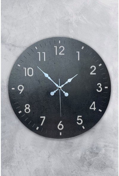 Platin Saat 35 cm Ahşap Klasik Duvar Saati