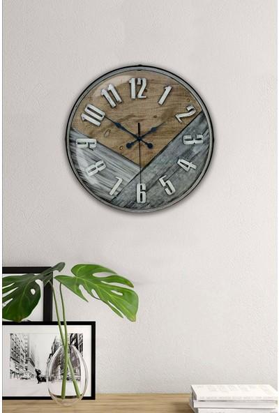 Platin Saat 35 cm Bombeli Gerçek Camlı Klas Duvar Saati