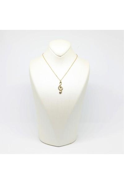 Altınköşe Mücevherat Altın Sol Anahtarı Kolye