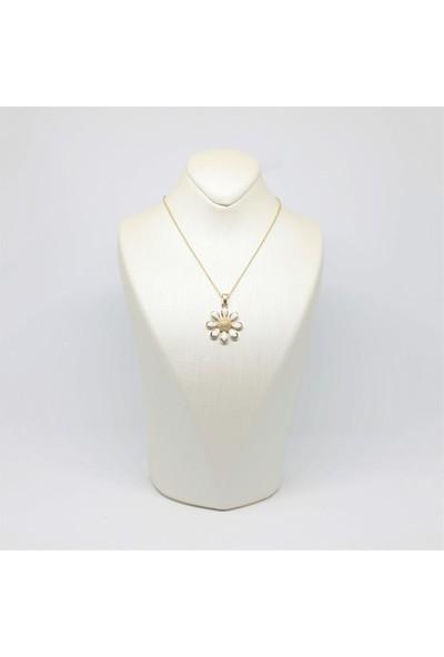 Altınköşe Mücevherat Altın Papatya Kolye