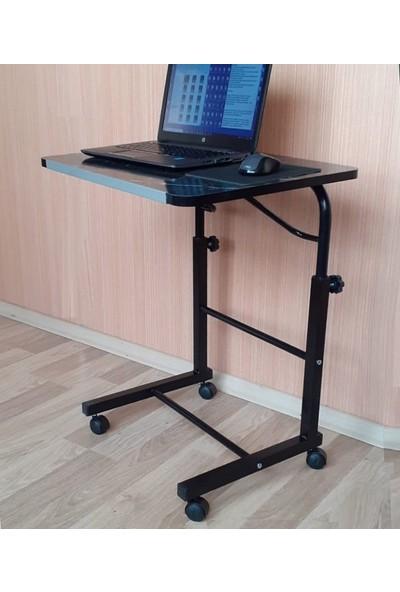Depolife Akrobat Bilgisayar Notebook Sehpası Yükseklik Ayarlı Ders Çalışma Masası Tekerlekli Pabuç